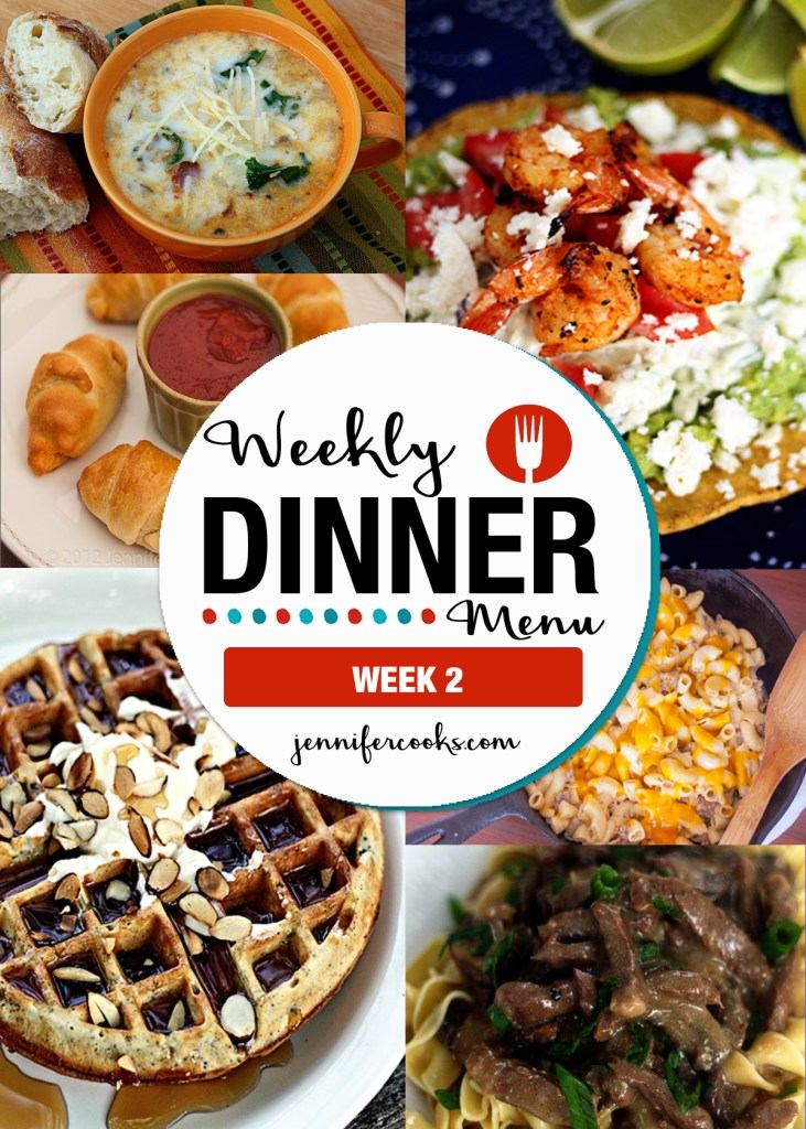 Weekly Dinner Menu Week 2 | Jennifer Cooks