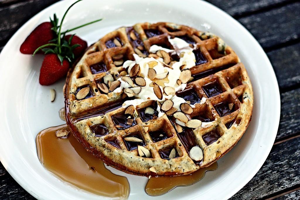 Almond Poppy Seed Waffles | Jennifer Cooks