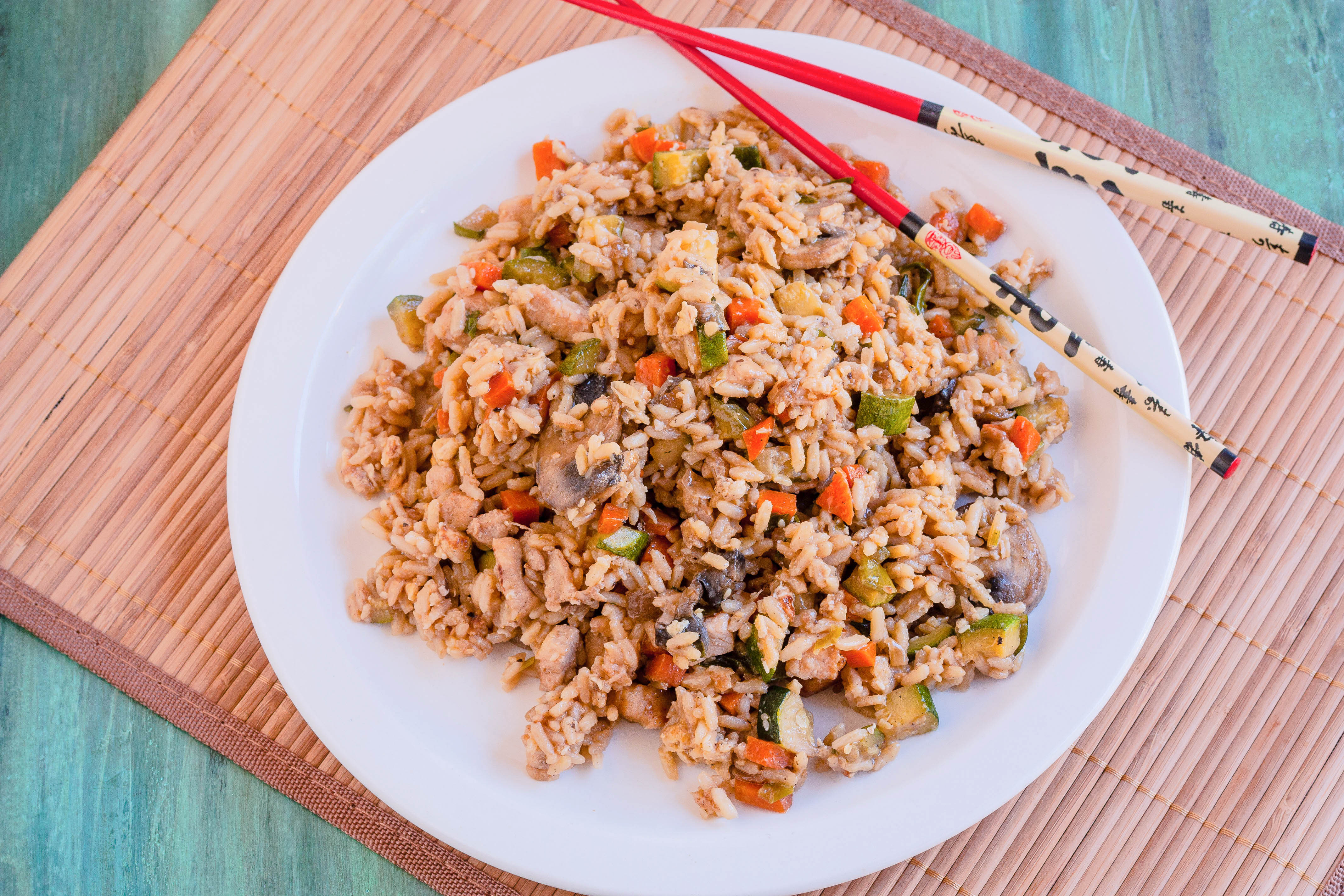 Japanese Fried Rice Recipe (Hibachi Style) - i FOOD Blogger |Hibachi Style Fried Rice