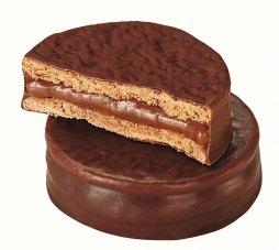 chocolate covered alfajores cookies