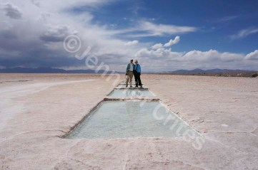 Me and Jerry at recently cut salt rectangles