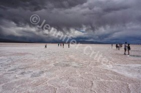 On the salt flats