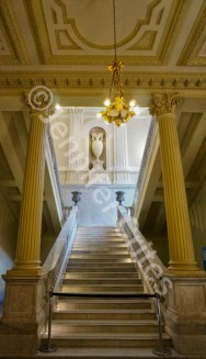 Staircase inside Casa Rosada—the presidential palace and offices in Buenos Aires.