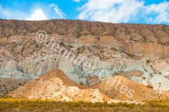 Rocks and hills show off their mineral colors in Argentina's high desert.