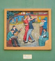 Tango Artwork on a Caminito wall
