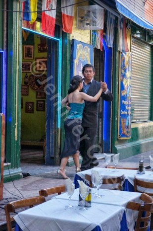 Tango Dancing at a Caminito Cafe