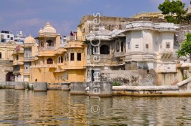Udaipur's old city on the shores of Lake Pichola