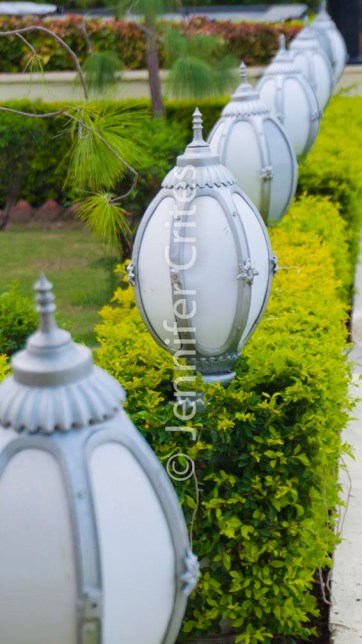 decorative lamps at Jag Mandir