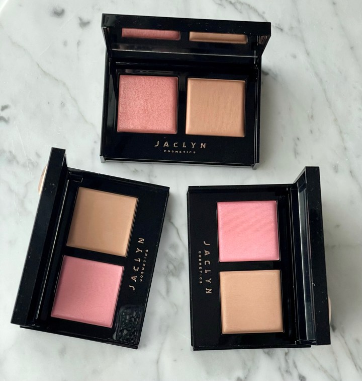 Jaclyn Cosmetics Bronze and Blushing Duos Review and Swatches