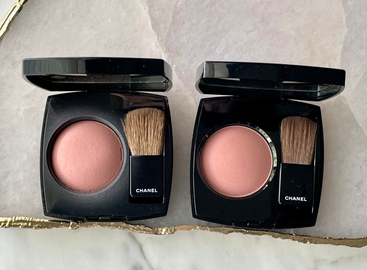 Chanel Blush Comparisons Old vs. New Formula in Jersey, Rose Ecrin, and Rose Bronze