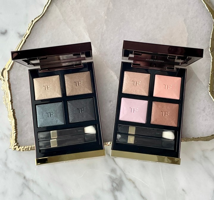 New Tom Ford Eye Shadow Quads: Metallic Denim and Rose Prisme Review and Swatches