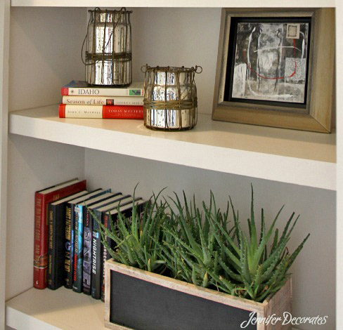 You can accessorize a bookshelf!  Jenniferdecorates.com