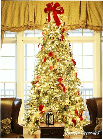 Now, I Usually Stick To The The Same Design For My Tree Every Year. I May  Change To A Different Ribbon Color, Or Use Mesh Ribbon , Or I Will Add A ...