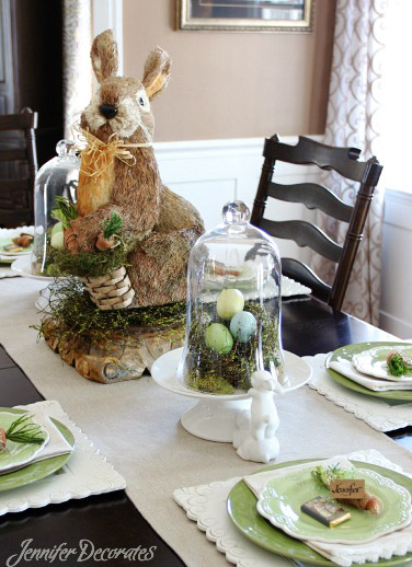 My Daughter In Law, Alice, Came Up With These Charming Table Decorations.  Easter Table Decorating Ideas