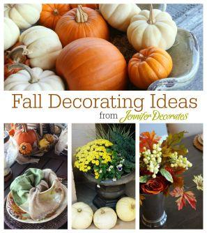 Fall decorating ideas from Jennifer Decorates.com