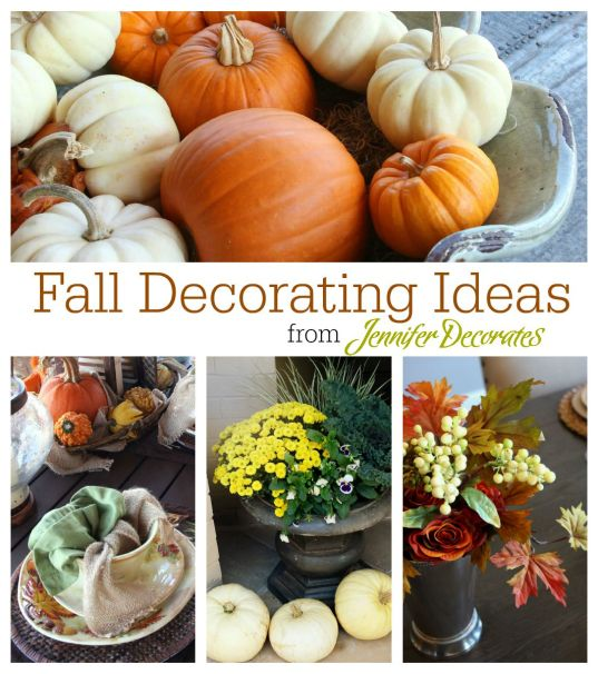 Fall decorating ideas from Jennifer Decorates.com
