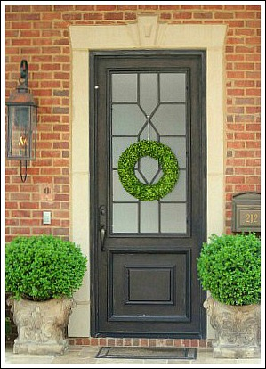 Exceptional I Love The Simplicity Of This Wreath. It Is Made From Dried Boxwood, And  Looks Like A Fresh Wreath. Of Course, The Gorgeous Black Door, And Huge  Planters ...