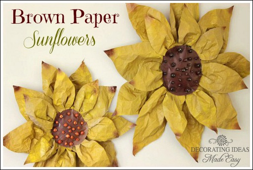 DIY brown paper flowers from Jenniferdecorates.com