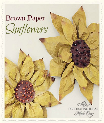 How to make paper flowers diy brown paper flowers from jenniferdecorates mightylinksfo