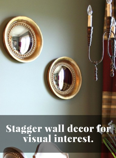 Wall decor done the right way. from Jennifer Decorates.com