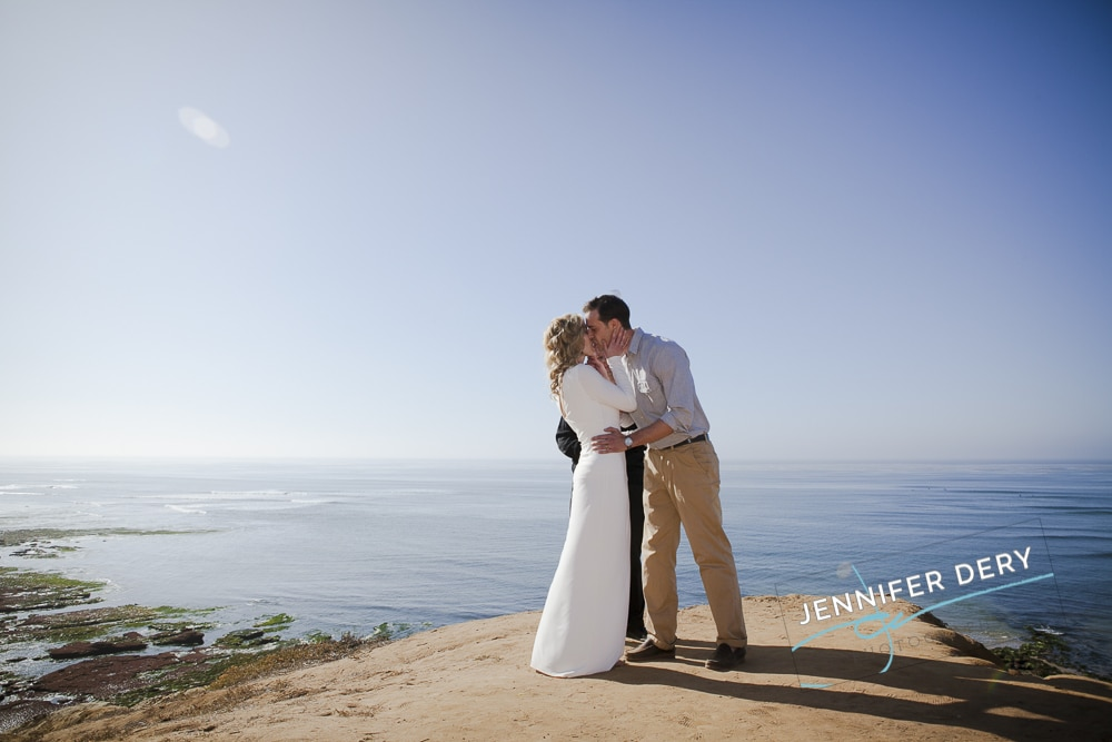 Small Beach Wedding – Photos at Sunset Cliffs