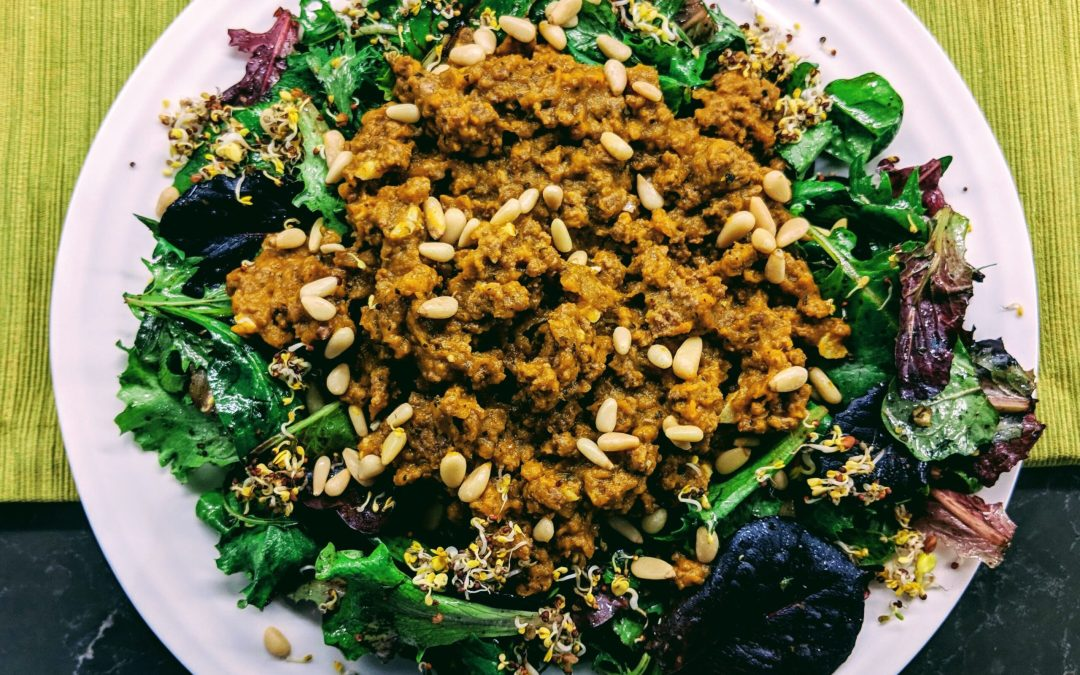 Pumpkin & Beef Salad (Low-Carb, Paleo)