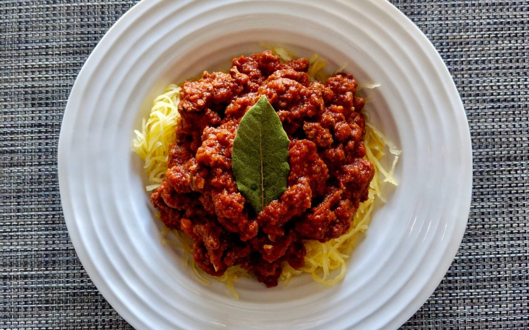 """Spaghetti"" Bolognese (Gluten Free, Low-Carb, IBS Friendly)"