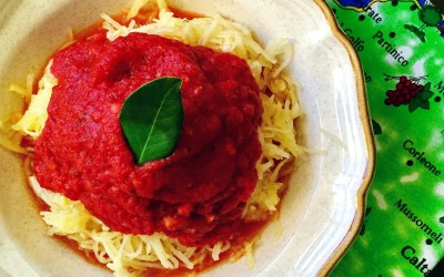 """Spaghetti"" with Classic Tomato Sauce (Gluten Free, Low-Carb, Plant-Based)"