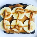 Almond butter and banana slice