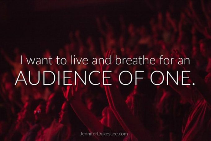 Image result for THE AUDIENCE OF ONE