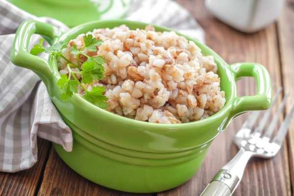 buckwheat in a green bowl