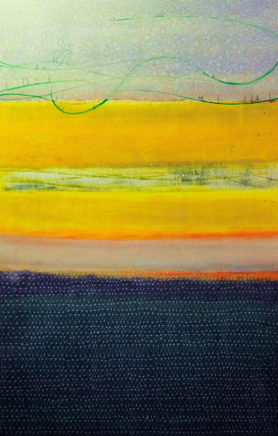 ARCHITETTURA SOSPESA 2 olio acrilico 99 x 64 (2008)