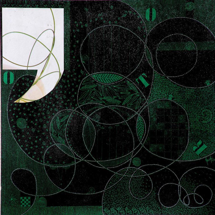 PAUSE 4 acrilico collage dim 42 x 42 anno 2007