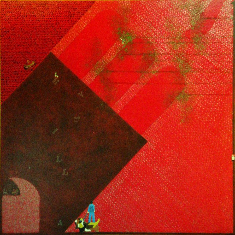 PIAZZA BALILLA tecnica mista dim 58×62