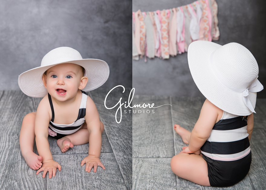 6 Month Old Baby Girl Portrait Session At Gilmore Studios