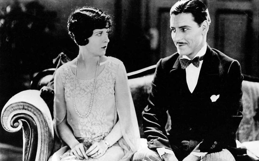 A screen capture from the film, Lady Windermere's Fan (1925), courtesy of the Library of Congress