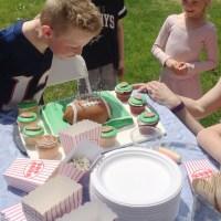 Turning Nine and the Football Cake