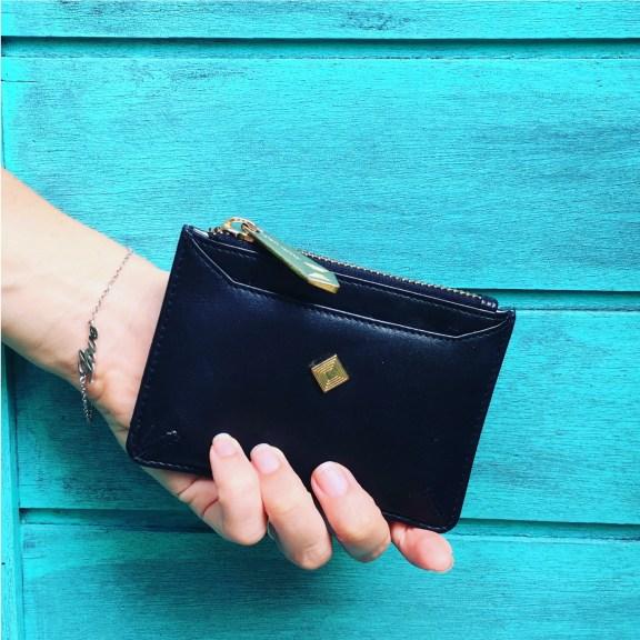 Sakura Coin and Card Wallet in Black
