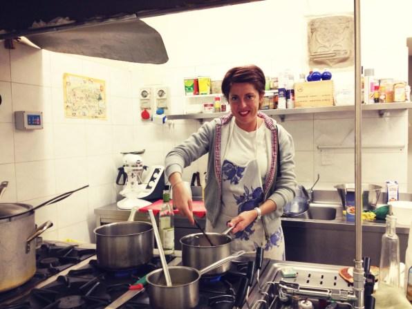 Simona, one of my Italian cooking teachers