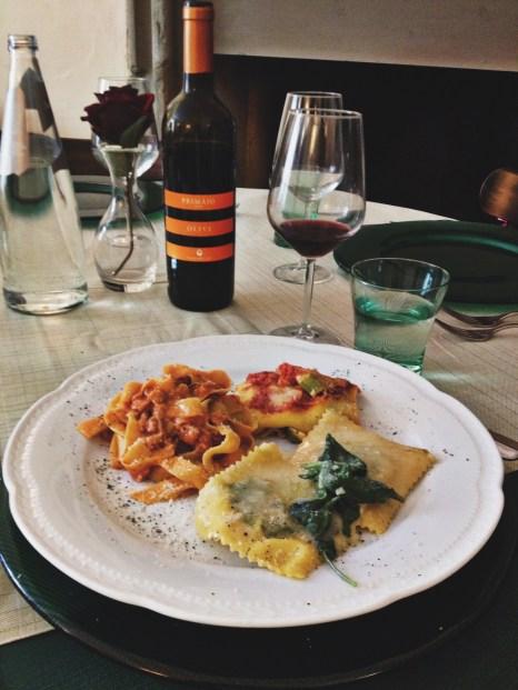 Second course (ravioli, tagliatelle, cannelloni)