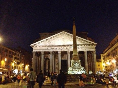 Pantheon (view from dinner on our last night in Italy)