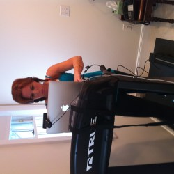 i promised to show a picture in my pjs & today is the day (poor keithy!) and tales from the treadmill…karaoke style!