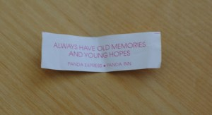 fortune cookie--old memories