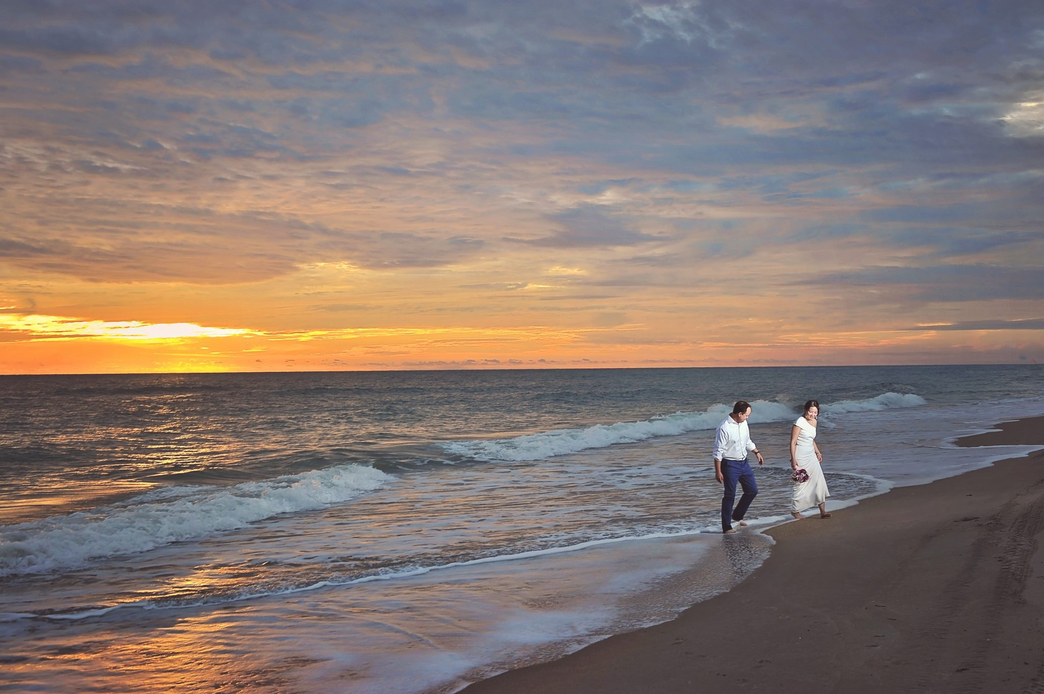 Florida Destination Sunrise Beach wedding