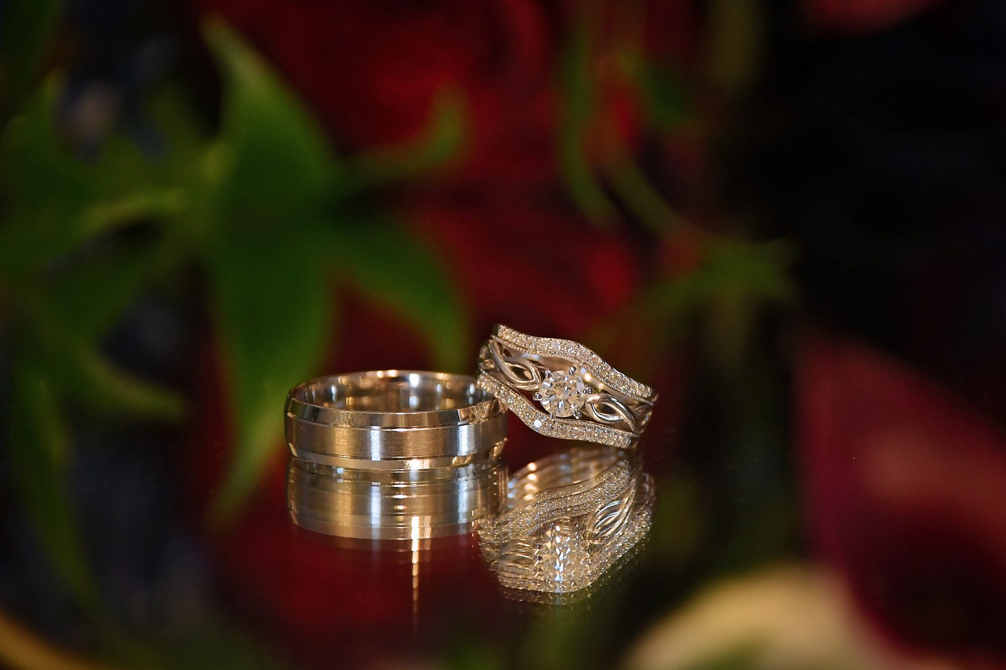 rustic barn wedding rings