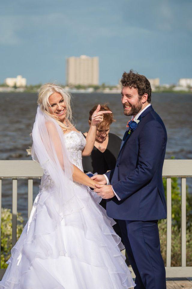 wedding at riverside pavilion