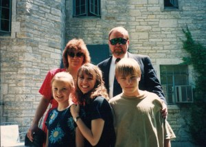 Here's a family photo (in front of my sorority house at Northwestern) that I wrote about once for this exercise.