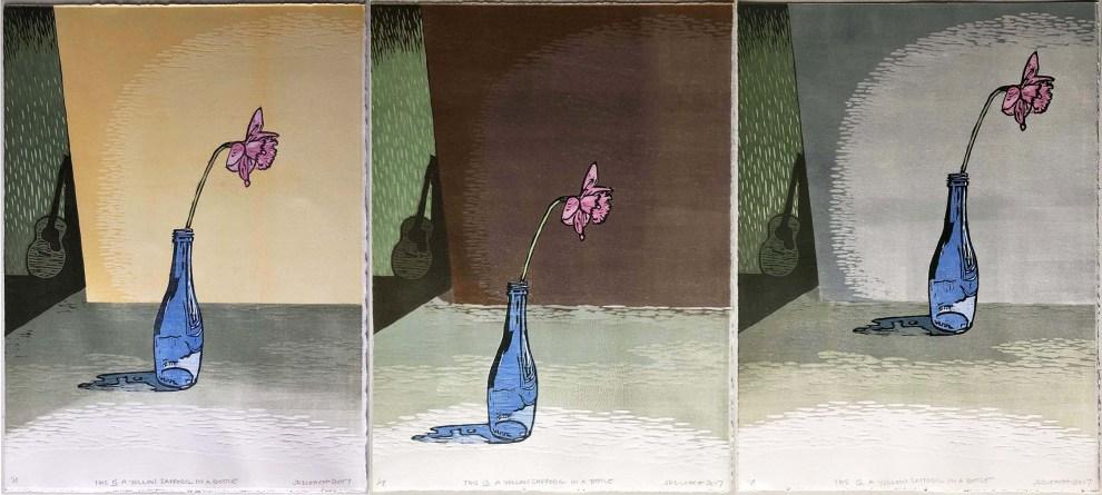 triptych daffodil