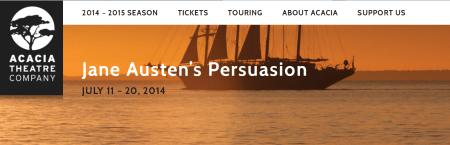 Acacia Theatre Banner Persuasion 2014