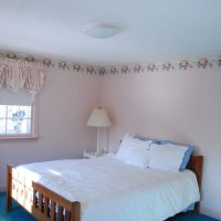 Large, sunny bedroom